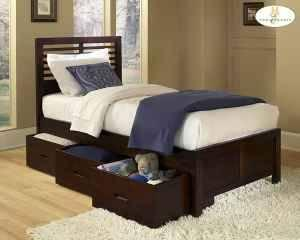 Wood Captain's Beds $399, Full $449