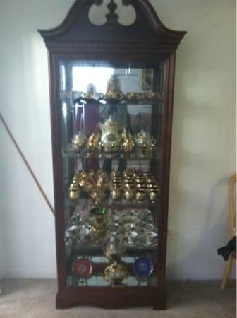 Wood Display Cabinet - $500