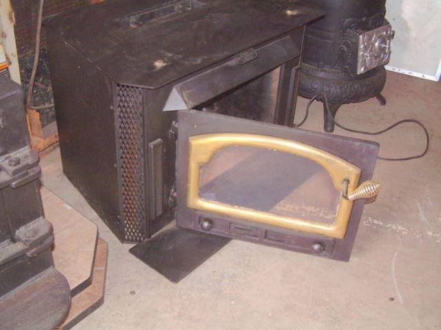Wood Heater Buck Fireplace Insert Glass Doors Cabin