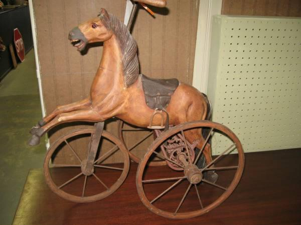 Wood Horse Tricycle - $185