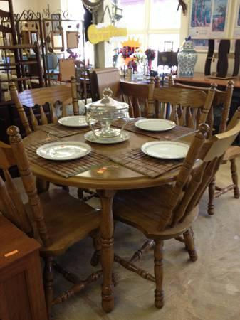 Wood kitchen table set 4 chairs leaf for sale in new for Kitchen set new leaf
