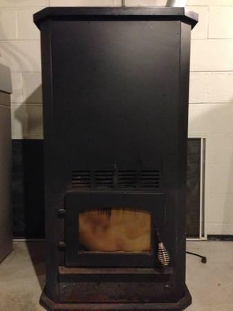 Wood Pellet Stove Ductwork 300lb Hopper Ful Heat