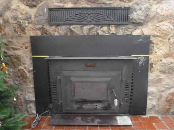 Wood Stove Insert - Built In Blower - Black Bart Brand  - $350