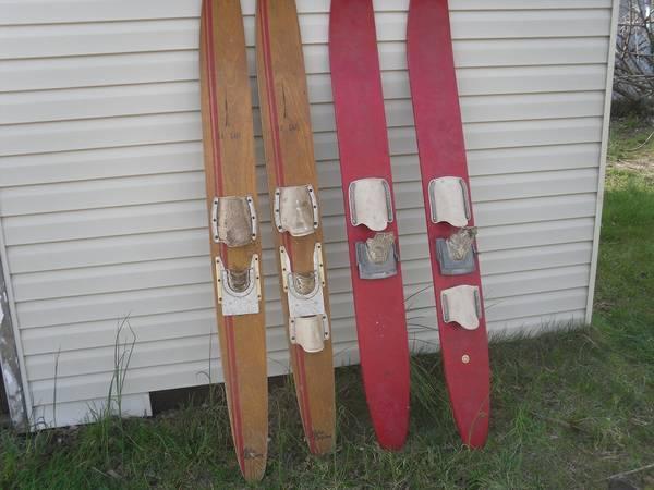 wood water skis - $15