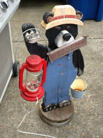 wooden bear for outside patio or porch aumsville or