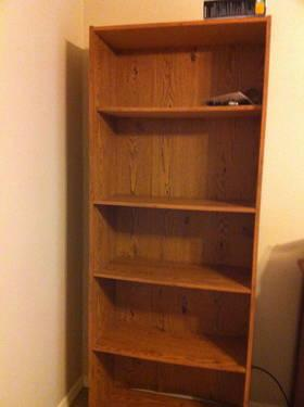 Wooden Desk with hutch and FREE matching book shelf FOR