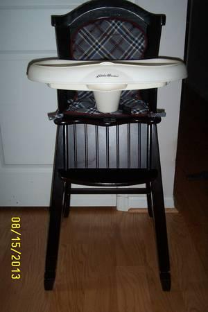 Wooden Ed Bauer high chair for Sale in Lynchburg