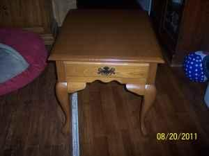 Wooden End Table - $40 (Whitney Point)