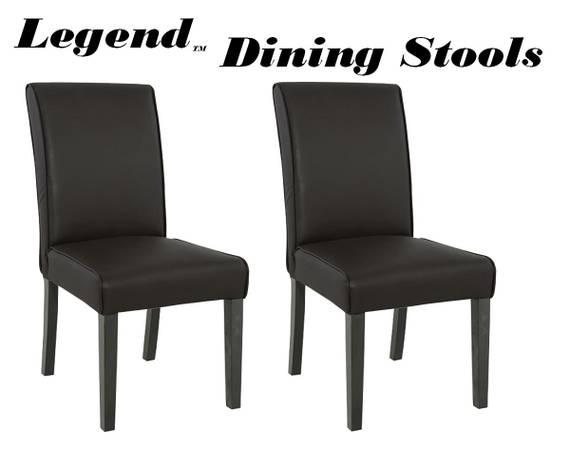 Wooden Faux Leather Dining Chairs And Matching Bar Stools