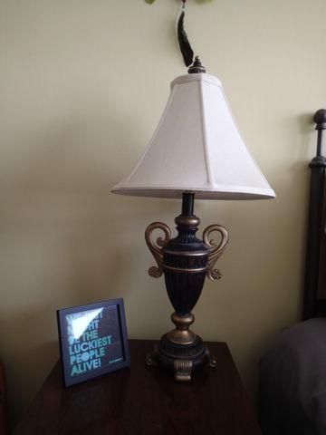 Wooden lamps (2) - $30 ($15 each)