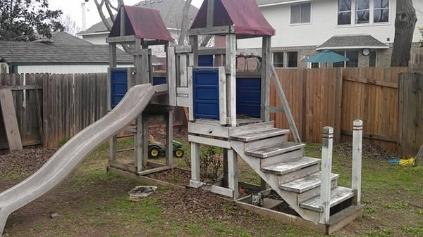 Wooden Playscape - $200