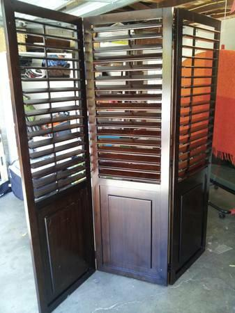 Wooden Shutter Room Divider Pier 1 for Sale in San Carlos