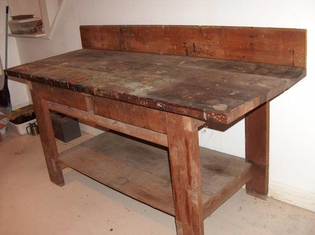 Wooden Work Bench Good Condition For Sale In Bristol Connecticut Classified