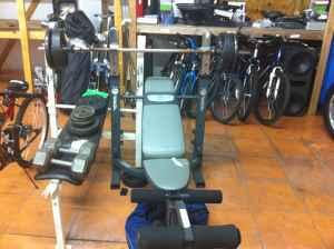 Workout bench with weights - $75 (kissimmee)