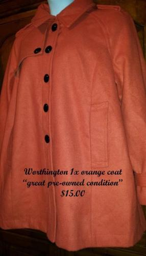 Worthington 1x orange coat,great pre-owned condition