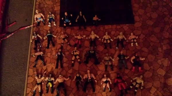 wrestling fans 90s wwf and wcw action figures and other items - $1