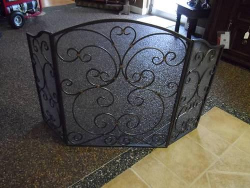 Wrought Iron FIREPLACE Fire place Decorative Screen
