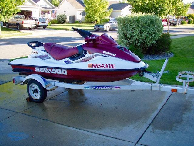 WTS 1999 SeaDoo GTX LTD Waverunner with trailer