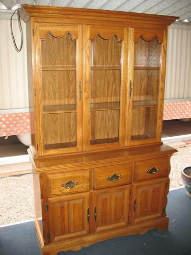 WTS Oak China Cabinet