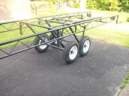 WTT my 24ft Scissor lift Pontoon trailer (Elizabethtown Ky)