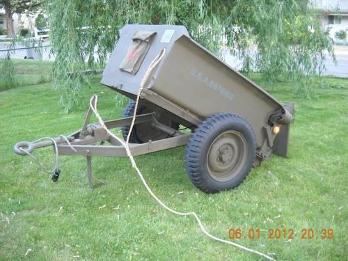 WW2 Converto Airborne dump trailer military jeep willys MB Ford GPW 45