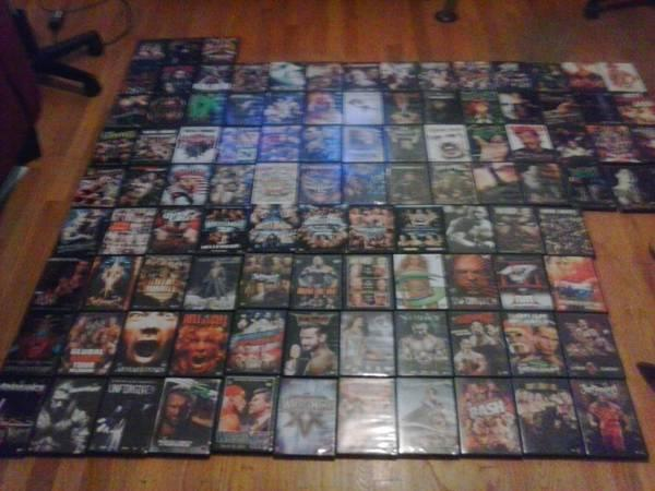 WWE DVDS IN GOOD CONDITION - $90