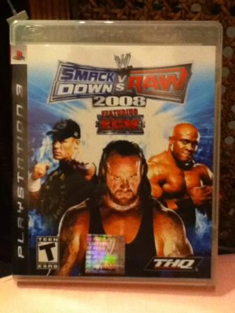 WWE SmackDown vs. Raw 2008 PS3 - $10