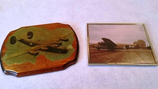 WWII Diamond Lil B-24 Liberator Wooden Wood Plaque  Framed Pic - $15