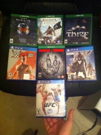 Xbox 1 and ps4 games - $275