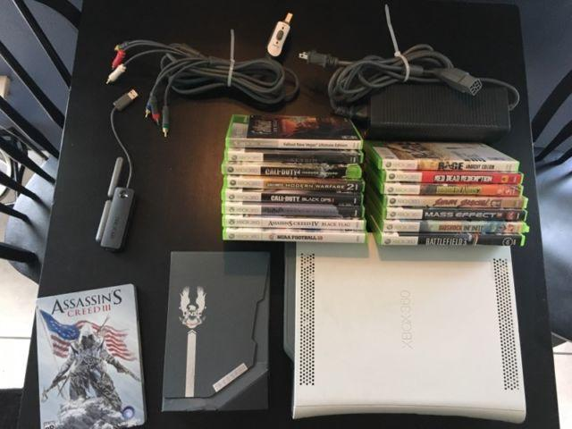XBox 360 Console and 19 Game Bundle