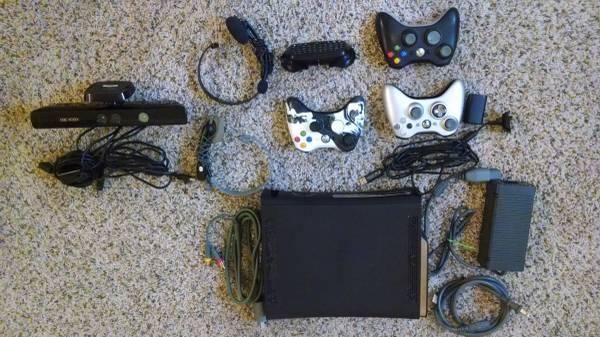 Xbox 360 Elite Bundle w/ games & Guitars - $500