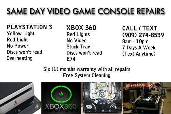 XBOX 360 Playstation 3 PS3 Repairs! Same Day! Red Ring