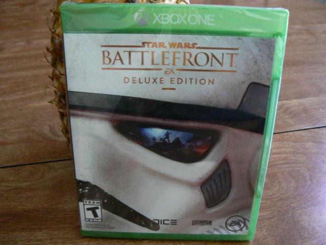 Xbox One StarWars Battlefront Deluxe Ed. Game (New,