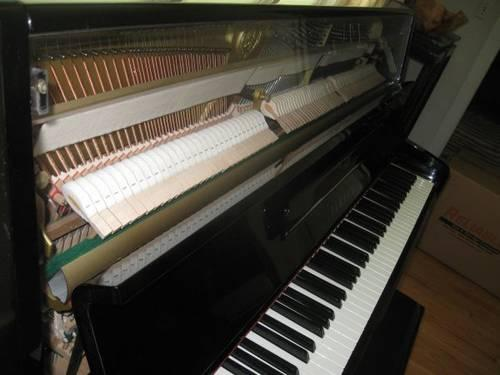 Yahama P2 Upright Piano, Ebony and Lucite