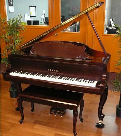 Yamaha baby grand piano french provincial cherry for for Yamaha dgx640c digital piano cherry