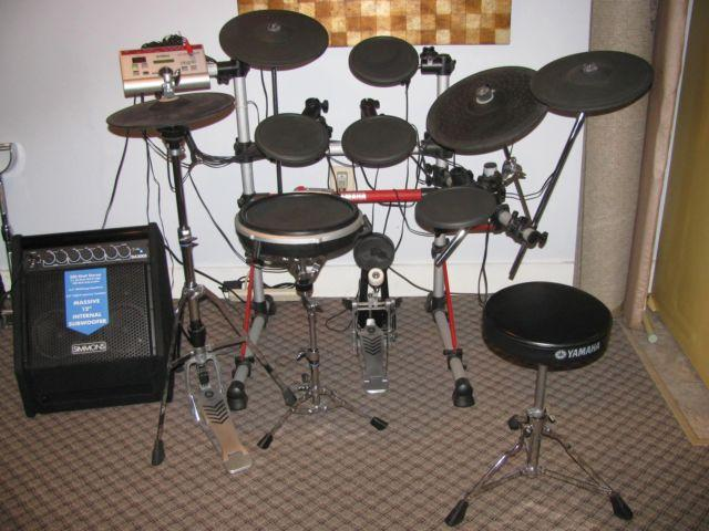 Yamaha dtxexpress iv electronic drum set w amp for sale in for Yamaha electronic drum kit for sale