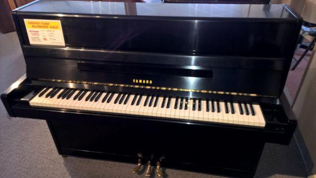 Yamaha p2 studio upright piano ebony for sale in seattle for Yamaha studio piano