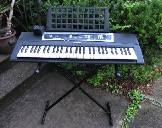Yamaha YPT210 61-Key Full-Size Key Keyboard - $60