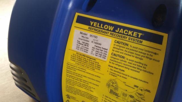Yellow Jacket 95760 Recovery Machine