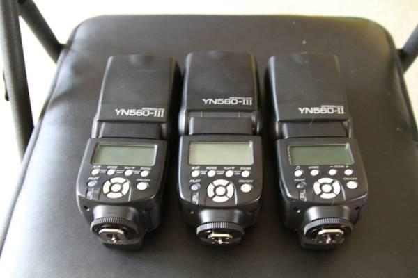 Yongnuo 560 III & II Flashes - $150