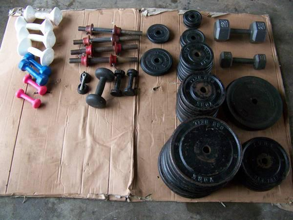 York Barbell Bench And Weights Vintage For Sale In