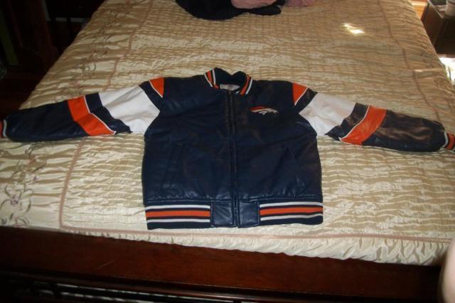 9159df44 Youth Denver Broncos Sports Varsity Leather Jacket (Reduced) for ...