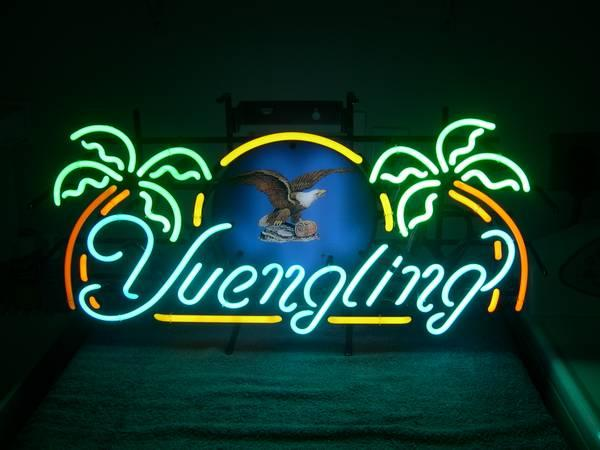 YUENGLING LAGER W/2 PALM TREES NEON SIGN - for Sale in