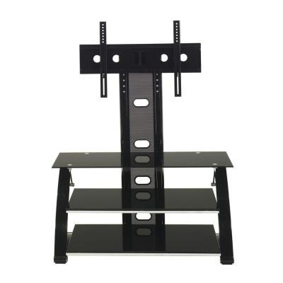 Z-Line Designs Black Glossy Vitoria Flat Panel TV Stand with Integrated Mount