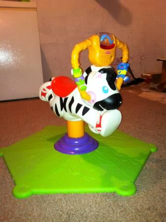 Zebra Bounce Toy with Music - $15