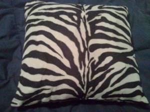 ZEBRA PRINT PILLOW - $10 (West Eugene)