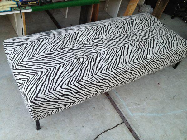 Zebra Print Sofa Bench For Sale In Palo Alto California Classified
