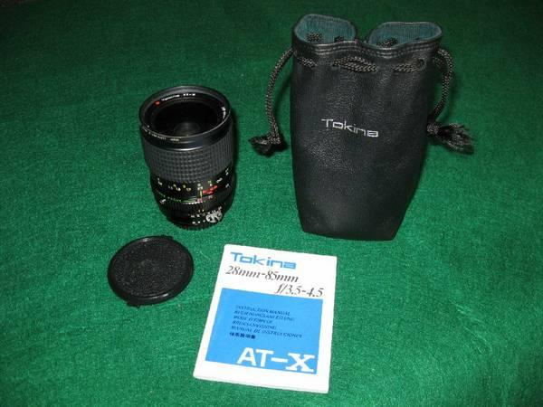 ZOOM-TOKINA - NIKON 28-85mm AT-X ZOOM LENS w MACRO -
