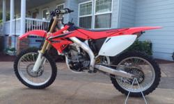 Selling my 2008 Honda CRF 450R with extras. This dirt bike is in great condition and has no mechanical problems. I am the second owner. I have always been diligent with frequent oil changes and regula
