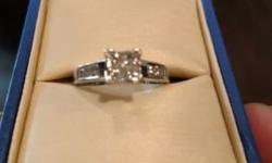 Selling 1 karat total weight ring size 7. We bought the ring for $1,700 but will sell for $1,000 or best offer